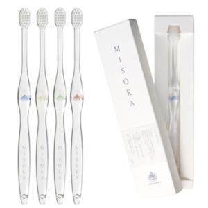 MISOKA 夢職人 魔法の歯ブラシ / M普通サイズ4本 / ミネラルでできているから歯磨き粉不要! / 旅行に便利! / ナノテク|kotohugshop