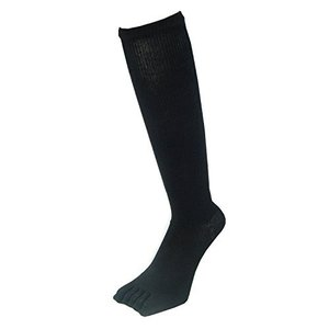 PAX-ASIAN 紳士・メンズ 五本指ハイソックス 着圧靴下 ムクミ解消 抗菌防臭 サポート 黒色・ブラック 3足組 #801|kotohugshop