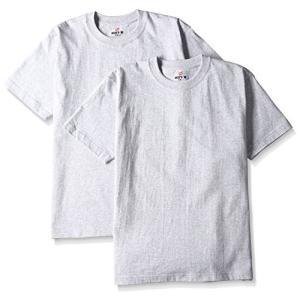 [ヘインズ] ビーフィー Tシャツ BEEFY-T 2枚組 綿100% 肉厚生地 ヘビーウェイトT H5180-2 メンズ ヘザーグレー XS|kotohugshop