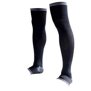 着圧ソックス メンズ 脚すっきり対策 オープントゥ 膝上 (M-L) 順天堂大学客員教授推奨|kotohugshop