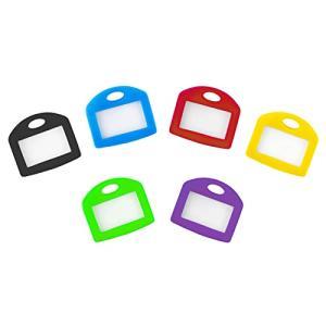 Pawfly キーキャップ タグ 24個 6色 鍵の識別リングカバー ブランクなラベル付き 完璧なコーディング系統 kotohugshop