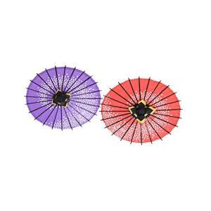 ミニ和傘セット 2本入り 直径31cm  インテリア  プレゼント傘 ( 紫桜渦&赤桜渦 ) kotohugshop