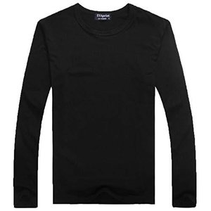 (POMAIKAI) 子供 長袖 Tシャツ ロンT 無地 キッズ 男の子 女の子 ロングtシャツ (黒 L 110cm) kotohugshop