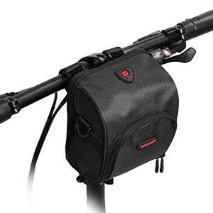 Rhinowalk 自転車 防水 フロントバッグ ハンドルバッグ フレームバッグ サイドバッグ (ブラック) kotohugshop