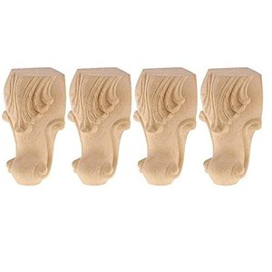 uyoyous 4個セット 家具脚 木製 テーブル脚 サポート脚 彫刻家具脚 パーツ アンティーク風 テーブル 脚 パーツ ソファ コーヒーテーブル|kotohugshop