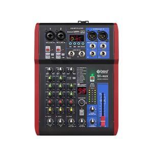 高音質! D Debra AudioProポータブルレコーディングミキサーオーディオ(USB 99 DSPデジタルエフェクト付き)DJミキサーコンソー|kotohugshop
