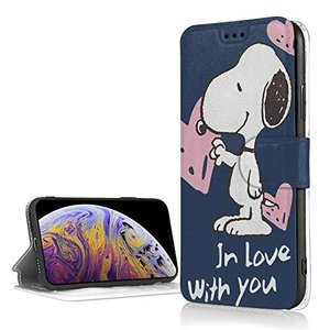 Snoopy スヌーピー iphone Xr ケース 手帳型 アイフォンXr スマホケース PUレザー 手帳型 軽量 薄型 カード収納 スタンド機能|kotohugshop