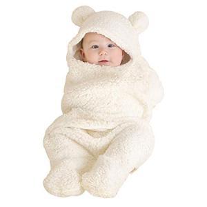 Janday ベビーおくるみ ベビー寝袋 あったかい ふわふわ 抱っこ布団 赤ちゃんの寝袋 布団 柔らかく?記念撮影 出産準備 出産祝い kotohugshop