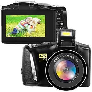 デジタルカメラ デジカメ コンパクトカメラ ビデオブログカメラ 2.7K 48MP フルHD YouTubeカメラ 4倍デジタルズーム 3.0インチス kotohugshop