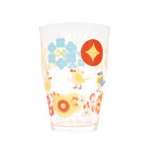 【KOTORITACHI】タンブラー 小花と文鳥|kotoricafe