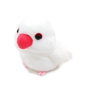 【ぽてぴよ】BD ビーンドール ぬいぐるみ 白文鳥 ◆ 文鳥 ブンチョウ 【ナカジマコーポレーション】 kotoricafe