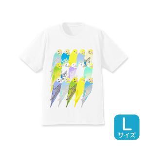 【ことりちゃん】セキセイインコ Tシャツ(Lサイズ) kotoricafe
