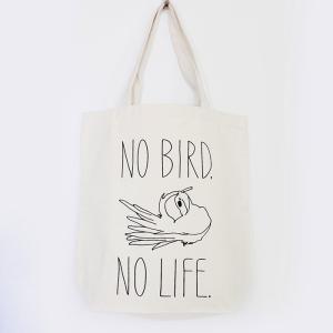【ことりちゃん】NO BIRD NO LIFE トートバッグMサイズ|kotoricafe
