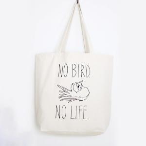 【ことりちゃん】NO BIRD NO LIFE トートバッグLサイズ|kotoricafe