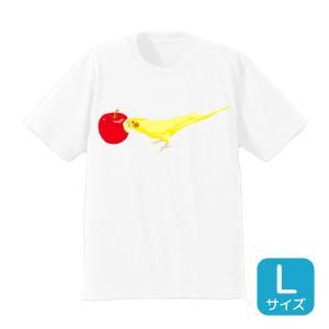 【ことりちゃん】ことりちゃんTシャツ(オカメインコ)Lサイズ|kotoricafe