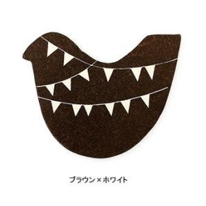 ウッドマグネット バード ★ブラウン×ホワイト|kotoricafe