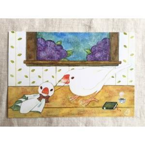 【文鳥院まめぞう】ポストカード『小さきものの小さな願い』|kotoricafe