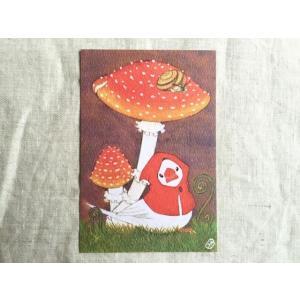 【文鳥院まめぞう】ポストカード『ある日、森の中』|kotoricafe