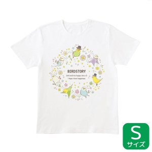 【BIRDSTORY】ことりとおはな Tシャツ セキセイインコ Sサイズ kotoricafe