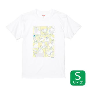 【BIRDSTORY】TORINOSHIGUSA Tシャツ イエロー×ブルー Sサイズ|kotoricafe