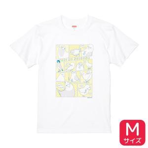 【BIRDSTORY】TORINOSHIGUSA Tシャツ イエロー×ブルー Mサイズ|kotoricafe