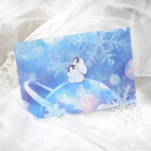 【もこぺん】A5クリアファイル ★銀河雪|kotoricafe