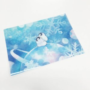 【もこぺん】A4クリアファイル ★銀河雪|kotoricafe