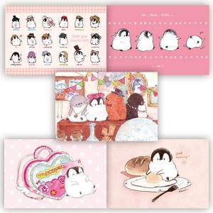 【もこぺん】ポストカード5枚セット(ピンク)|kotoricafe
