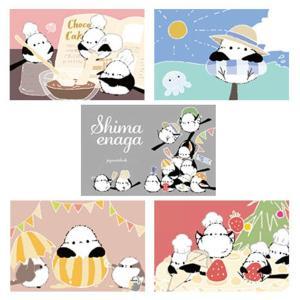 【ぴよ手帖】ポストカード ★季節を楽しむシマエナガ 5枚セット ◆クリックポスト対応◆ kotoricafe