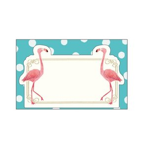 【Beaux Oiseaux/オリエンタルベリー】メッセージミニカード ★フラミンゴ kotoricafe