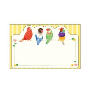 在庫限り★【Beaux Oiseaux/オリエンタルベリー】メッセージミニカード ★Colorful Birds kotoricafe