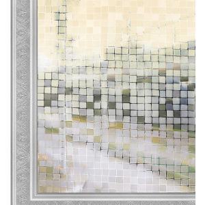 窓ガラスフィルム 3D 窓飾りフィルム SVK-L014-DM445 ガラス UVカット飛散防止 大モザイク 幅44.5cm 2枚入り kotoshopping