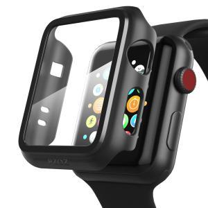 Apple Watch 38mm アップルウォッチ ケース フィルム PET超薄型 耐衝撃性 落下防止 脱着簡単 PC カバー Seires 2/3 38mm 対応 (ブラック) kotoshopping