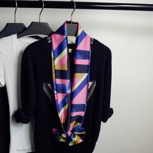 レディーススカーフ 100%ポリエステル小物 アクセサリー ファッション雑貨 激安 高級サテン 落ち感光沢柔らかい 長方形144cm*16cm 選べるデザイン|kotoshopping