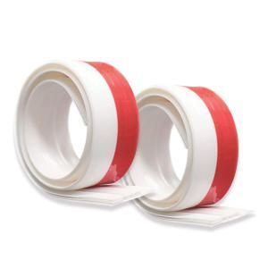 ドアストッパーテープすきま風防止 ドア下部シールテープ  ドア隙間テープ 半透明 防水 隙間テープ防風 防虫 ソフトなシリコーン (ホワイト)2個セット|kotoshopping