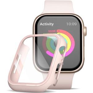 Apple Watch 6/5/4  44mm フィルム ガラス 素材 超薄型  ガラスフィルム ケース 全面保護 耐衝撃 PC アップルウォッチ44ガラス カバー ( ピンク)商品代引不可 kotoshopping