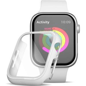 Apple Watch 6/5/4  44mm フィルム ガラス 素材 超薄型  ガラスフィルム ケース 全面保護 耐衝撃 PC アップルウォッチ44ガラス カバー (ホワイト) kotoshopping