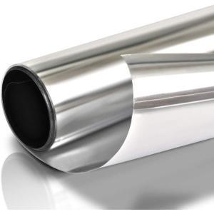 窓ガラスフィルムガラス台風対策 暴風対策 破片飛散防止 マジックミラーフィルム 目隠しシート断熱遮光  UVカット (90x250cm, シルバー)接着剤タイプ|kotoshopping
