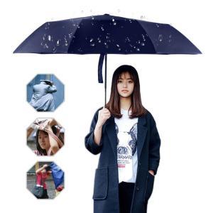 折りたたみ傘 ワンタッチ自動開閉傘 頑丈な10本骨 高強度グラスファイバー 耐強風 晴雨兼用 軽量 シンプル 118cm 収納ケース付き (ブルー)|kotoshopping