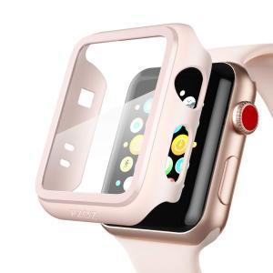Apple Watch 38mm アップルウォッチ ケースフィルム PET超薄型  耐衝撃性 落下防止 脱着簡単 PC カバー Seires 2/3 38mm 対応 (ピンク) kotoshopping