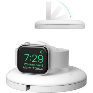 Apple Watch 充電スタンド シリコン 充電 クレードル ドック 収納 アップルウォッチ 5/4/3/2/1 44mm/42mm/40mm/38mm シリーズ 全機種対応(白) kotoshopping