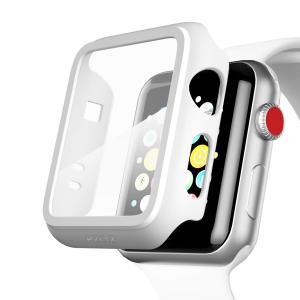Apple Watch 38mm アップルウォッチ ケースフィルム PET超薄型  耐衝撃性 落下防止 脱着簡単 PC カバー Seires 2/3 38mm 対応 (ホワイト) kotoshopping