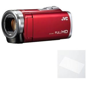 JVC JVCケンウッド ビデオカメラ Everio GZ-E109-R  レッド 液晶保護フィルム...