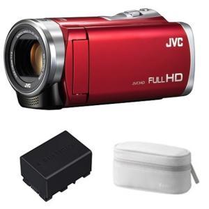 JVC JVCケンウッド ビデオカメラ Everio GZ-E109-R  レッド 予備バッテリー ...