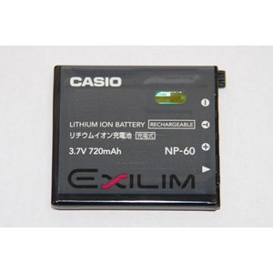 CASIO カシオ リチウムイオン充電池 NP-60 純正   送料無料 NP60カメラバッテリー kou511125