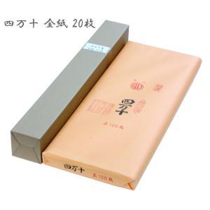 書道 画仙紙 条幅紙  四万十箋 全紙(70×136cm) 20枚|koubaido