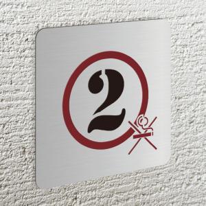 フロアープレート[階数表示板](ステンレス製)必要階数でお作りします。禁煙マーク付き。(5,000円...
