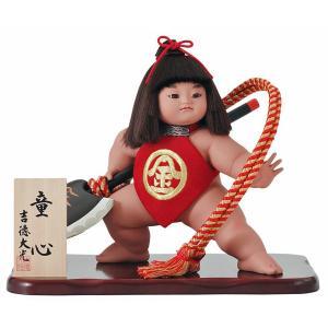大人の武将をかたどったものよりも、凛々しくも愛らしい、童心や健康そのものを象徴する子供の姿の人形が、...