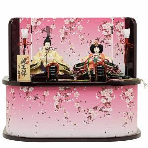お雛様やお道具類などの飾りもの全てが箱に収まる、便利な収納タイプのひな人形飾りです。 片付けが苦手な...