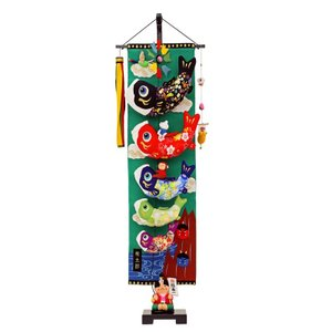 五月人形 兜 鎧 5月人形 人形工房天祥オリジナル 限定 オリジナル 「室内鯉のぼり 桃太郎(大)」 節句飾り 端午の節句 初節句 子供の日 男の子 人形広場 koubou-tensho